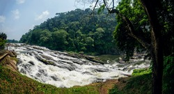 Vazachal low-angle water falls, Thrissur district, Kerala state, India