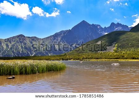 Veľké Biele pleso Kežmarské and Malý Kežmarský štít and Kozí štít. beautiful pond in Tatra Mountains. White Pond in Tatra Mountains Zdjęcia stock ©