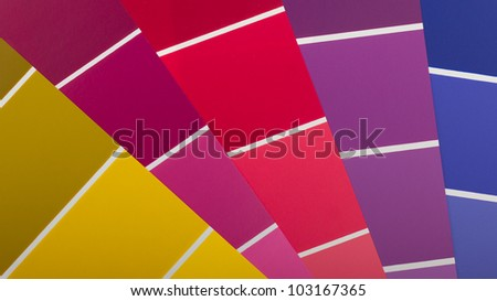Vector colour card (paper) with various colors