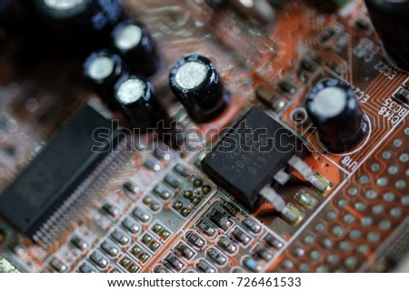 Vector eps10.Circuit board. Electronic computer hardware technology. Motherboard digital chip Tech science background. Integrated communication processor. Information engineering component #726461533