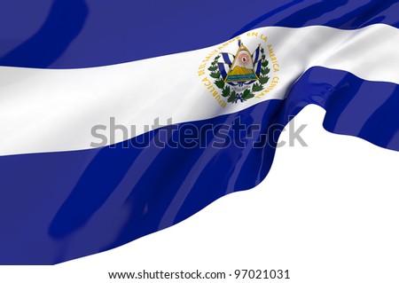 Vector Flags of El Salvador