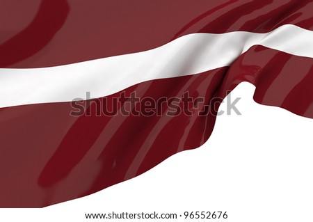 Vector Flags of  Latvia