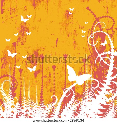Vector Floral Textured Background, JPEG