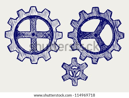 Vector gears. Raster version