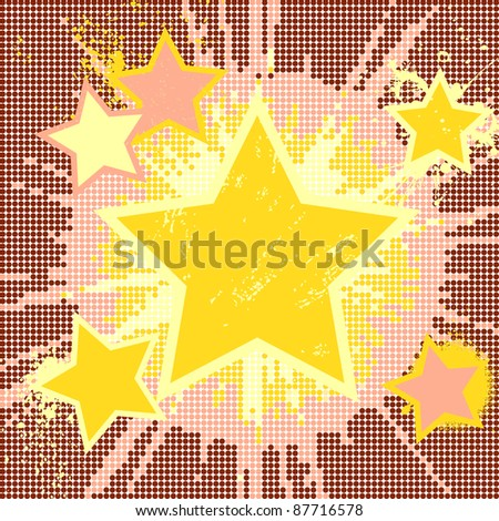 Vector grunge abstract background of explosion star and place for text.