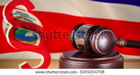 Vector icon of section symbol against costa rica national flag #1045054708