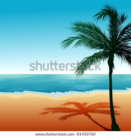 Vector Illustration of Beach Background 6.