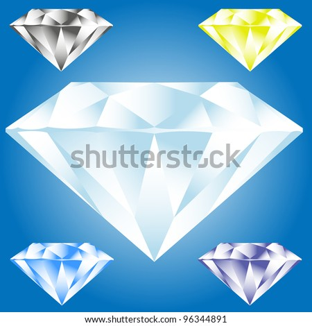 Vector illustration of diamond - stock photo