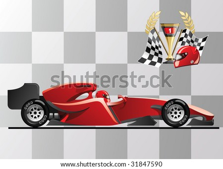 vector illustration of  formula 1. racing car