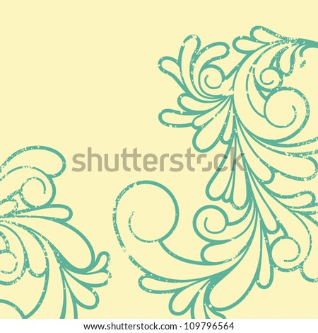 Vector illustration of swirl pattern