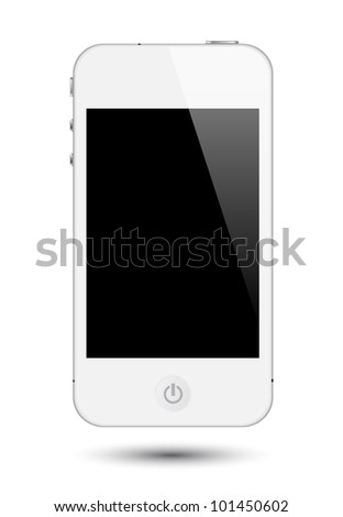 vector illustration of touch screen smartphone in eps10 format, to preserve the reflection effects after replace with images on screen.