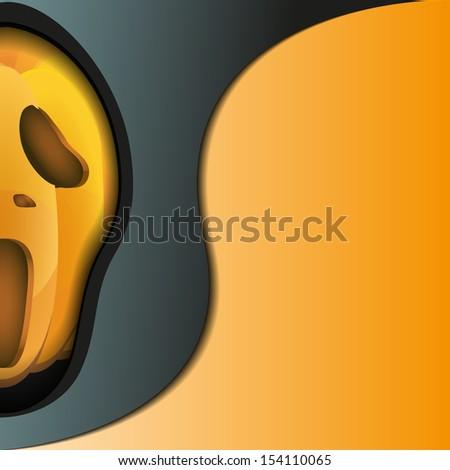 vector illustration poster of halloween pumpkin on holiday