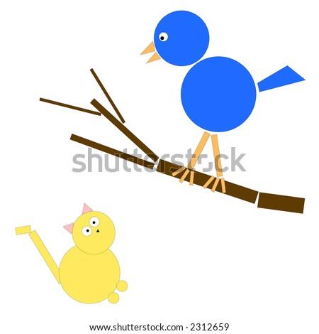 Blue Bird in Yellow Circle Logo Blue Bird With Yellow Circle