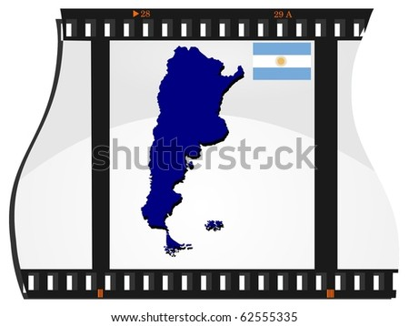 vector image footage with a map of Argentina