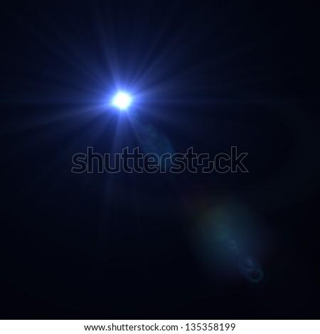 Vector lens flare - stock photo