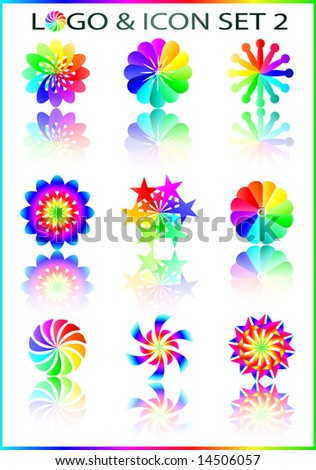 vector logo and icon cmyk rainbow