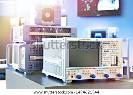 Vector network analyzer in lab
