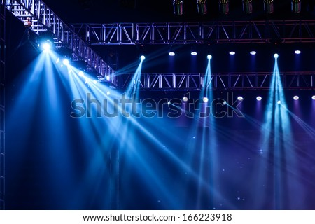 Vector Stage Spotlight with Laser rays #166223918