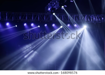 vector stage spotlight with
