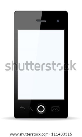 Vector stylish Smartphone with isolated background. Vector version also available in my portfolio.