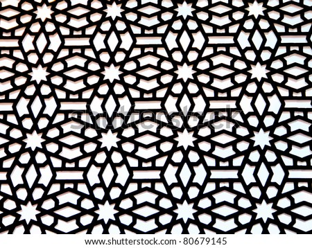 vector symmetrical arabic pattern background
