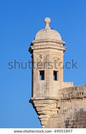 Vedette tower over Grand Harbour at Senglea fortress. Malta Stock fotó ©