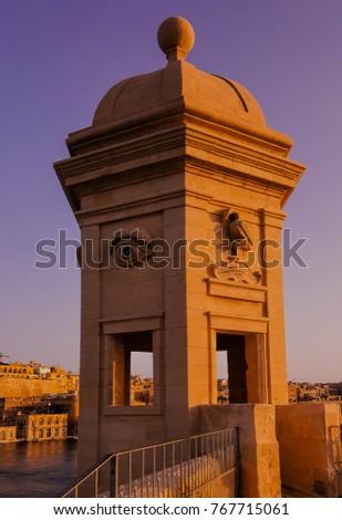 Vedette (Watchtower) in Senglea, Malta Stock fotó ©