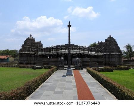 Veera Narayana temple, Belavadi village, Chikkamagaluru district of Karnataka state, India. It was built in 1200 C.E. by Hoysala Empire King Veera Ballala II.