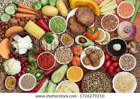 Vegan health and super food plant based diet with a large collection of foods. High in protein, vitamins, minerals, antioxidants, anthocynins, fibre, omega 3, lycopene and smart carbs. Ethical eating.