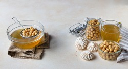 Vegan meringue, boiled chickpea and aquafaba. Vegan cooking concept. Healthy product. Substitute egg for vegan recipes. Selective focus.