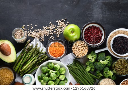 Vegan protein source. Healthy diet vegetarian food.