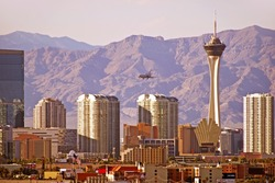 Vegas Cityscape. Las Vegas, Nevada Downtown Skyline. United States.