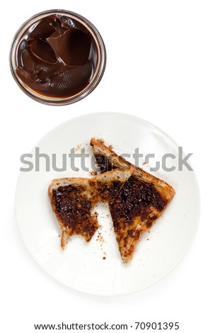Vegemite On Wholewheat Toast. Overhead View, With Open Jar. Iconic ...