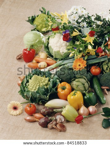 Vegetable and flower composition