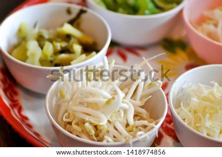vegetable and pickled vegetable, preserved vegetable