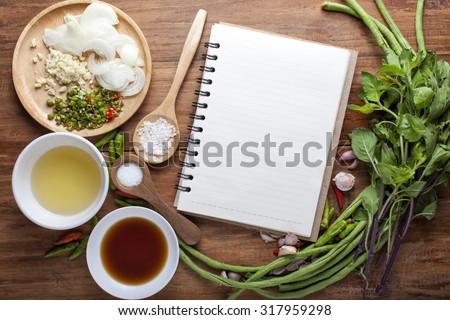 Vegetable background, recipes.