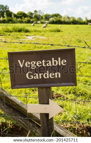 Vegetable Garden Sign Stock Photo 201425711 Shutterstock