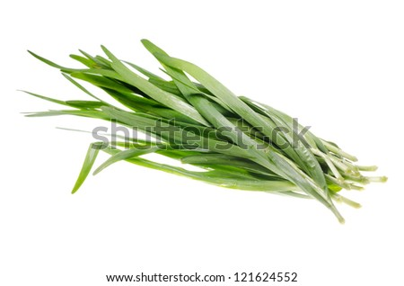 vegetable green chives leaf isolated #121624552