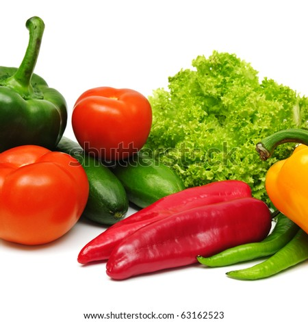 vegetable isolated on a white