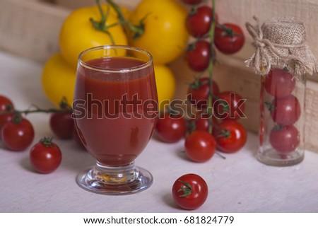 Vegetable juice or smoothie #681824779