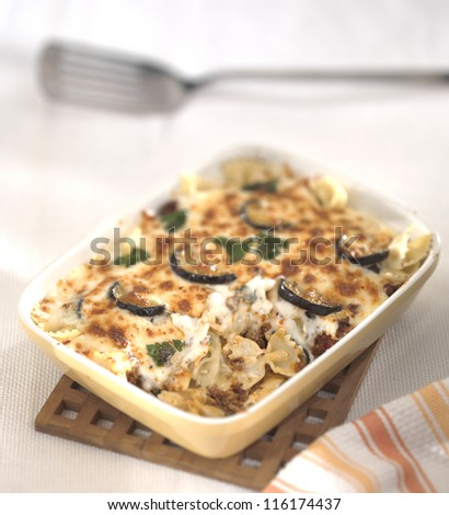 vegetable lasagna - stock photo