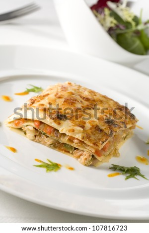Vegetable lasagnes