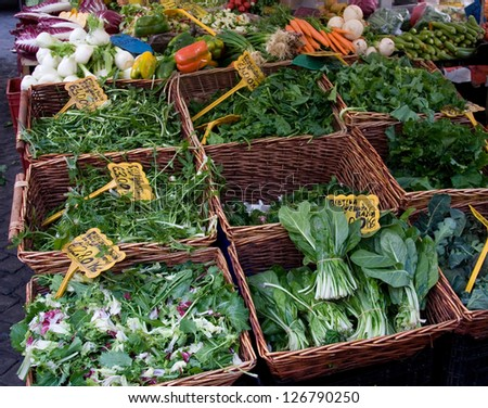 Vegetable market stall