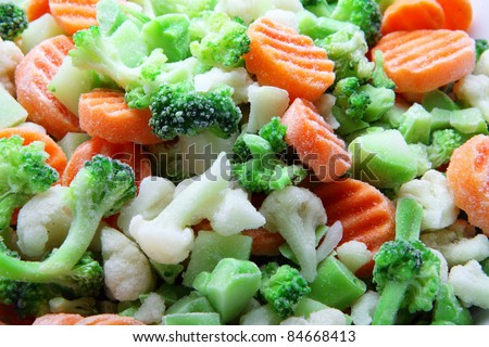 vegetable mix from broccoli, california and carrot