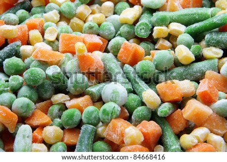 vegetable mix of carrot, pea and corn