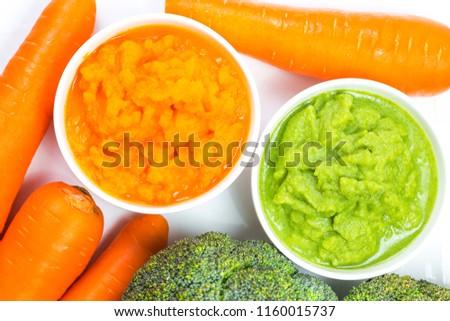 vegetable puree, carrots  pureed ,Broccoli pureed #1160015737