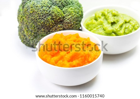 vegetable puree, carrots  pureed ,Broccoli pureed #1160015740