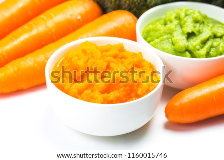vegetable puree, carrots  pureed ,Broccoli pureed #1160015746