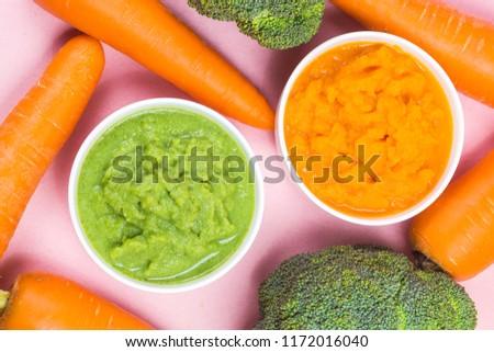 vegetable puree, carrots  pureed ,Broccoli pureed #1172016040