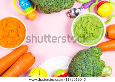 vegetable puree, carrots  pureed ,Broccoli pureed #1172016043